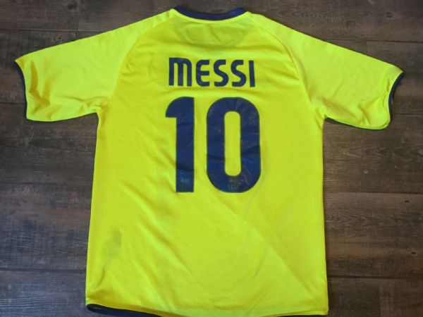 2008 2010 Barcelona Messi Away Football Shirt Adults XL